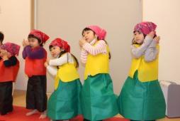 予行演習(うさぎ組)ダンス「パプリカ」